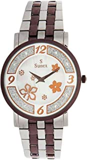 Sunex Women's White Dial Stainless Steel Band Watch S6385CW