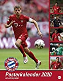 FC Bayern München Posterkalender. Wandkalender 2020. Monatskalendarium. Spiralbindung. Format 34 x 44 cm