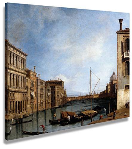 digitalpix Artenòr Bild Kanaletto Der Kanaletto Großer Verso EST da Campo San Vito 1727 - Kunstdruck auf Leinwand gepresst - 65 x 52 cm