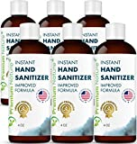 Instant Hand Sanitizer Gel - Value Size Advanced Natural Hand Sanitize Cleaner Portable Aloe Vera Moisturizer Packaging May Vary 4 oz (6 Pack)