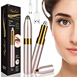 Anglink Electric Eyebrow Trimmer, Eyebrow Shaper for Precise Hair Removal for Women, Rechargeable with LED light, Gold