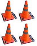 4 X 18' COLLAPSIBLE PULL OUT POP UP SAFETY EMERGENCY ACCIDENT TRAFFIC ROAD CONES