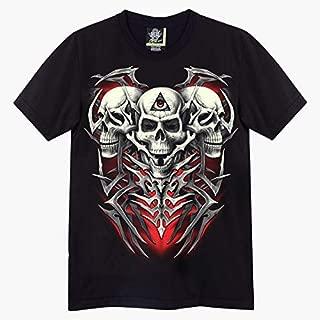 Skull Heads (Glow in the Dark) - Biker T Shirt