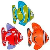 Folat 8714572205726 20572 Aufblasbare Tropische Fische Mehrfarbig-3 Stück