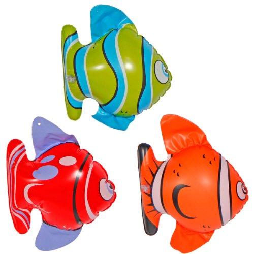 Folat 20572 Aufblasbare Tropische Fische Mehrfarbig-3 Stück