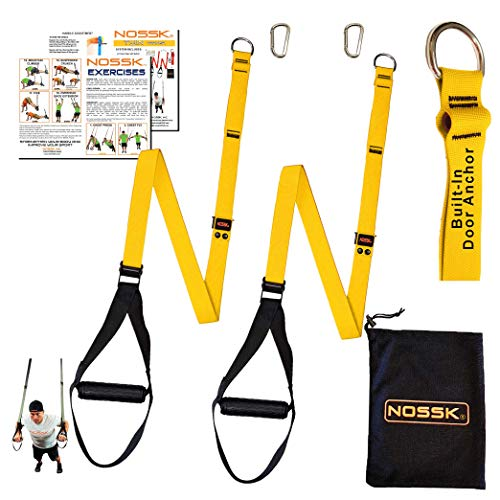 NOSSK Twin PRO Bodyweight Fitness Strap Trainer (Yellow)
