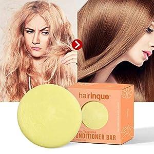 Solid Conditioner Bar For All Hair Types, Organic Tangerine Travel Hair Conditioner – Moisturizing Nourishing…