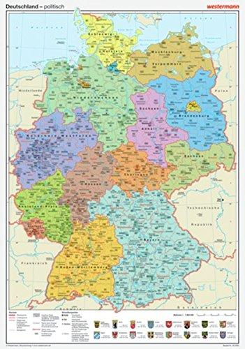Posterkarten Geographie: Deutschland: politisch
