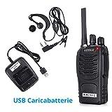 Zoom IMG-1 esynic paio walkie talkie ricaricabile