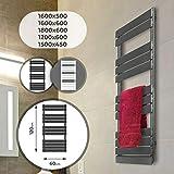 Miadomodo Sèche-Serviette pour Salle de Bain - Montage au Mur, en Acier Inoxydable, Format Vertical, Taille et Couleur au Choix - Radiateur, Chauffe-Serviette