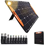 100W Portable Solar Panels, Foldable Solar Panel Charger, Compatible with 90% Solar Power Stations, Dual USB Output 10 DC Connectors, for Exploration, Disaster Relief, Geological Exploration -SP100