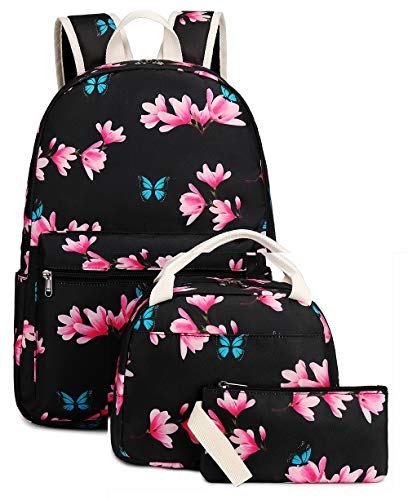 Bookbag School Backpack Girls Cute Schoolbag for 15 inch Laptop backpack set (Teal - Cactus)