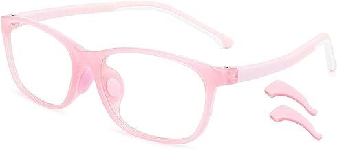 livho Kids Blue Light Blocking Glasses, Computer TV Gaming Eyeglasses for Boys Girls Age 3-15 Anti Glare & Eye Strain & UV...
