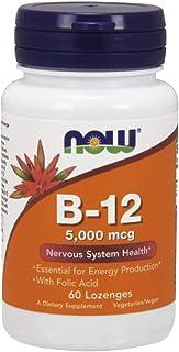 Now Foods La vitamina B-12 con ácido fólico. 5000mcg - 60 pastillas 60 Unidades 40 g