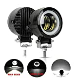 Auokay 3inch 20w Led Work Light Driving Fog Lamp DRL White 6000K Waterproof for Offroad SUV Car Truck Motorcycle,Pakc of 2