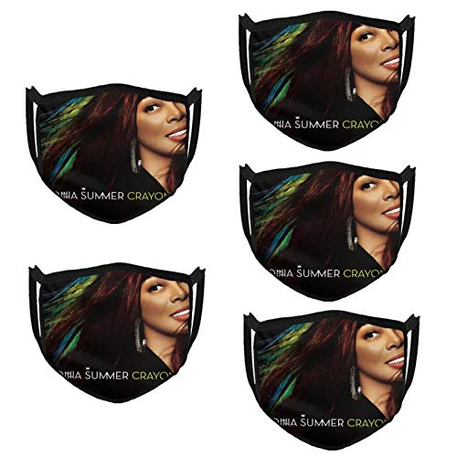 KarlMRush Donna Summer Crayons Outdoor Bandanas,Masks,Mouth Guard,Balaclava,Neck Gaiter Dustproof Scarf,Face Cover (5 Pack)