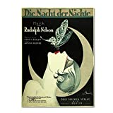 Art Deco Music Sheet by Vintage Apple Collection, 18x24-Inch Canvas Wall Art