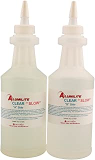 Alumilite Clear Casting Resin (Slow) Low Viscosity, Transparent, 32 oz. Package 12 MIN Open TIME