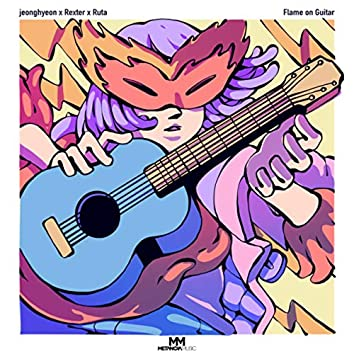 Flame on Guitar