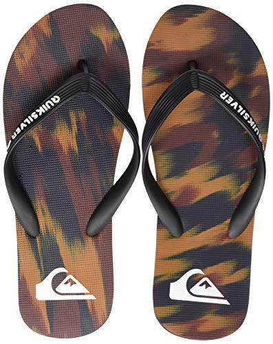 Quiksilver Molokai Marled, Zapatos de Playa y Piscina Hombre, Multicolor (Black/Blue/Red Xkbr), 45 EU
