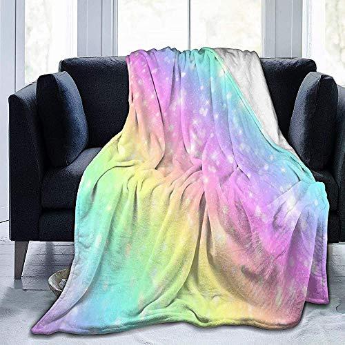NA Galaxy Fantasy pastel marmer roze fleece deken gezellige thermische fleece deken