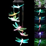 KUAHAIHINTERAL Solar Power Wind Chime Light Spiral Spinner Decorative Mobile Waterproof Outdoor Romantic Wind Bell Light… 5