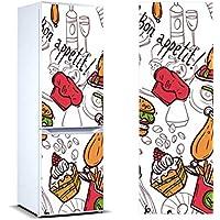 Oedim Pegatinas Vinilo para Frigorífico Bon Appetit ! | 185x60cm | Adhesivo Resistente y de Fácil Aplicación | Pegatina Adhesiva Decorativa de Diseño Elegante