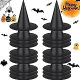 20 Sombreros Negros de Bruja de Halloween Accesorios de Disfraz de Bruja de Halloween Sombrero de Mago Mágico de Fiesta de Halloween para Accesorios de Escenario Disfraz de Carnaval