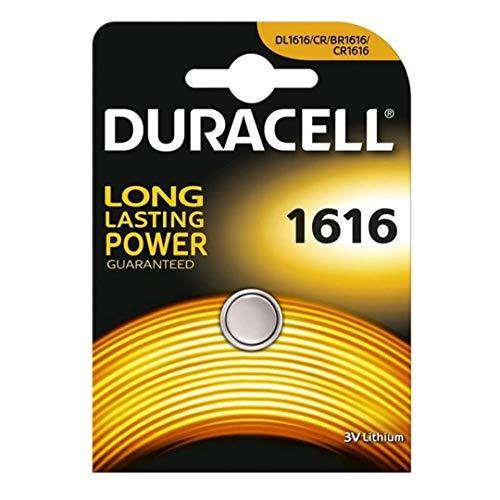 Duracell 5000394030336 DL1616 3V Lithium Knopfzellenbatterie 1-er Pack metallic
