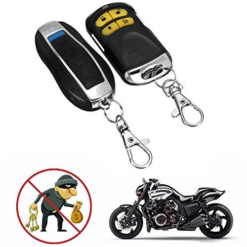 Dispositivo de alarma y protección contra robo de coche, 12 V, protección de línea de corte, doble control remoto, tipo motocicleta, accesorios de motor y alarma de protección contra robo de coche