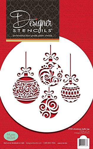 Designer Stencils Weihnachtskugel-Kuchendekor-Schablone.