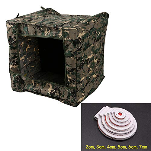 CTNZ Slingshot Target Box Faltbare Camouflage Slingshot Target Box Recyceln Bogenschießen Hängendes Ziel Etui (15,7 * 15,7 * 15,7 Zoll) Munitionsetui für die Katapultjagd Schießübungen