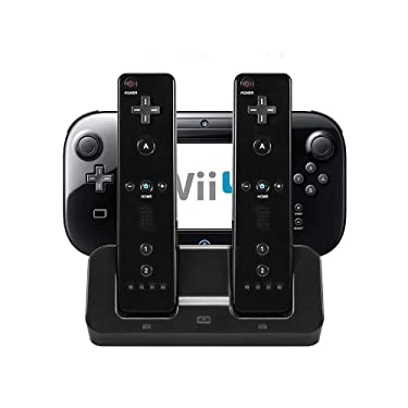 eLUUGIE 3 in 1 Charger Dock Charging Station Base for Wii U Gamepad Charger Stand wii u Gamepad Charger Cradle WII U Gamepad Power Stand wii u Charging Dock