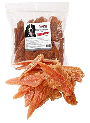 Corwex Hundesnack Hühnerbrustfilet im wiederverschließbaren Beutel (1 kg)