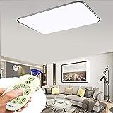 Lámparas de techo LED regulables 72W con mando a distancia, uso en dormitorios, cuartos infantiles, oficinas, cocinas, pasillos, baños y salones 5760 lúmenes