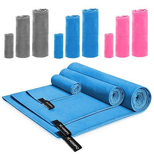 HOMPO Toalla de Microfibra - Secado rápido, Ligera, Absorbente, Suave y grante Yoga, Fitness, Playa, Gimnasio
