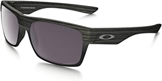Oakley Twoface Sunglasses (Woodgrain Frame/Prizm Daily Polarized Lens) with USA Flag Lens Cleaning Kit