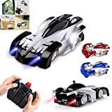 Remote Control Car Rc Cars, Remote Control Wall Climbing RC Car with LED Light 360 Degree Rotating Stunt Toy (Black)