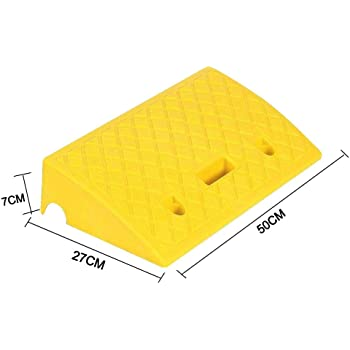 Pressure Resistance and Non-Slip Portable Lightweight Curb Ramp Urnanal Plastic Curb Ramp for Car Trunks Motorcycles Scooters Wheelchairs Heavy Duty Plastic Threshold Ramp Kit Set for Driveway