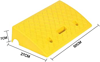 Portable Lightweight Plastic Curb Ramps Heavy Duty Plastic Threshold Reflective Ramp Kit Set for Driveway, Loading Dock, Sidewalk, Car, Truck, Scooter, Bike, Motorcycle, Wheelchair Mobility(1pc)