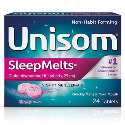 Unisom SleepMelts, Nighttime Sleep-aid, Diphenhydramine HCI, 24 Tablets