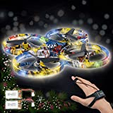 Andals Remote Control Child Gesture Control Drone Rc Quadcopter Aircraft Hand Sensor for Kids Mini Drone with Smart Watch Controlled, 2 Batteries (Camouflage)