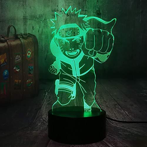 Naruto Anime Fly Uzumaki Naruto 3D LED Nachtlicht USB Tischlampe Kinder Geburtstagsgeschenk Nachtzimmer Dekoration