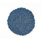 LE TELERIE Tappeto da Bagno, Tappetino da Bagno in Microfibra Morbido e Rotondo - Pratico con Fondo Antiscivolo (Petrolio)