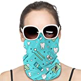 Mouth Guard Tool Toothpaste Toothbrush Floss Tooth Personality Balaclava Face Shields Dust Wind UV Sun Protection,Neck Gaiter Headwear,Bandana Outdoor Face Scarf for Women Men