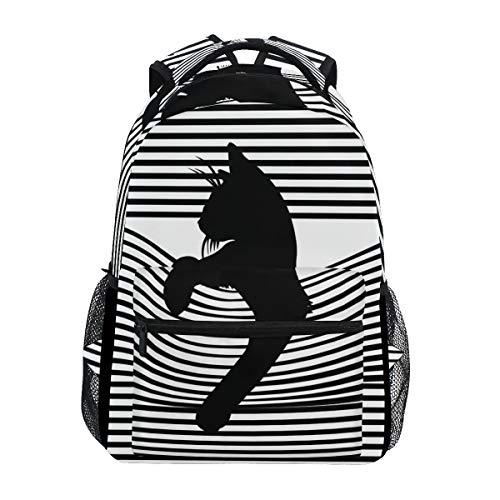 CPYang Art Rucksack mit Katzen-Motiv, Schulranzen für Schule, Freizeit, Reisen, Tagesrucksack, Wandern, Camping