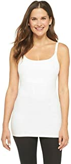 Maternity Breastfeeding Nursing Tank Shirt Cami Sleep Bra, XL, White