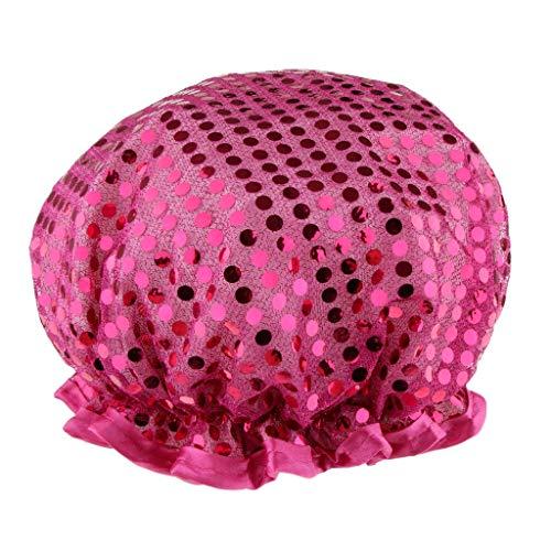 Inzopo Bonnet de bain élastique confortable pour femme Motif salon de spa Violet