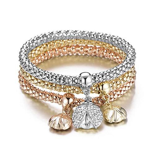 3Pcs Crystal Charm Bracelet Tree of Life Owl Anchor Music Note Boy Girl Heart Pulseras para Mujeres Pulseria Feminina Jewelry Gift, Beatles