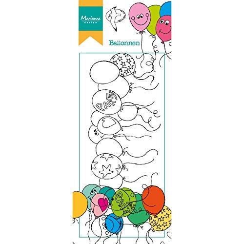 Marianne Design Transparante stempel Hetty's Border Ballon, siliconen, 7,5 x 18,5 x 0,5 cm